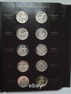 Franklin Mint Michelangelo Genious Sterling Silver 60 Medals 76 Oz