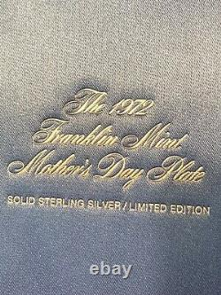 Franklin Mint Mother And Child Solid Sterling Silver Plate 1972 Mint