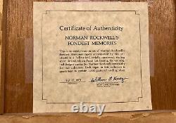 Franklin Mint Norman Rockwell Fondest Memories Sterling Silver 1973. $2K Value
