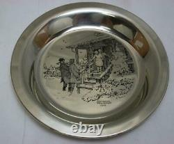 Franklin Mint Norman Rockwell Sterling Plate 187.30 Grams Silver