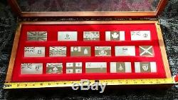 Franklin Mint Official Flags of Canada Sterling Silver Bar Ingots, 32.76 OZ