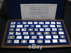 Franklin Mint Official Flags of the States Sterling Silver 50 Ingots Set