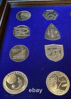 Franklin Mint Official NASA Manned Space Flight Proof Sterling Silver Emblems