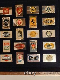 Franklin Mint Official Silver Emblems Of The 50 World's Greatest Automobiles Coa
