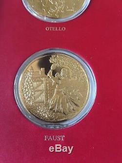 Franklin Mint Opera's Most Beautiful Moments 73.3 Oz Sterling Silver 24kt