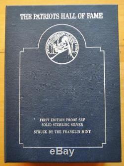 Franklin Mint Patriots Hall of Fame Sterling Silver Proof Set 10 medals Vol 2