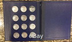 Franklin Mint Presidential Sterling Silver 36 Medals American Express Lot S 39