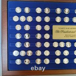 Franklin Mint Presidents & First Ladies Mini Coin Set Sterling Silver As Is