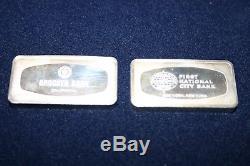 Franklin Mint Proof Set of 50 BankMarked Sterling Silver Ingots 1974 collector