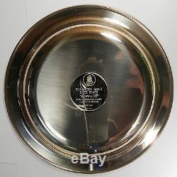 Franklin Mint Pure. 925 Sterling Silver Plate Bobwhite 7.1 Oz