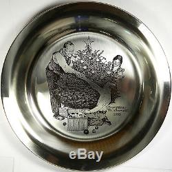 Franklin Mint Pure. 925 Sterling Silver Plate Trimming The Tree 6.5 Oz