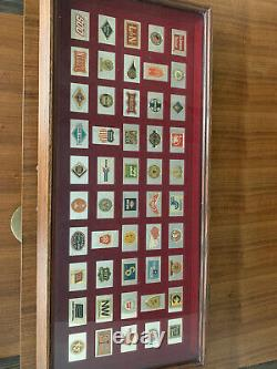 Franklin Mint Railroads 50 Emblems Sterling Silver 24k Gold Plated Ingots