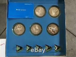 Franklin Mint Roberts Birds Sterling Silver Uncirculated Set of 40 Birds