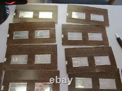 Franklin Mint Silver Bars Automobile Collection 91.66 ounces Sterling Silver