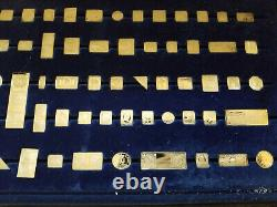 Franklin Mint Silver Ingots 100 Greatest Stamps Of The World Complete
