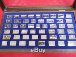 Franklin Mint Silver Ingots State Flags. 925 Sterling Silver 50 Piece Set