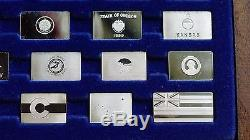 Franklin Mint Silver Ingots State Flags Sterling Silver Complete 50pc Set, Rare