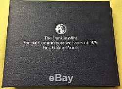 Franklin Mint Special Commemorative Issues Of 1975 Sterling Silver Proofs