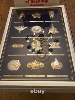 Franklin Mint Star Trek 12-piece Insignia Badge Collection Sterling Silver