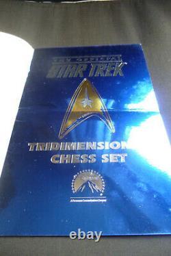 Franklin Mint Star Trek 3D Chess Set-24 carat Covered w Gold & Sterling Silver
