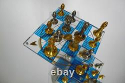 Franklin Mint Star Trek 3D Chess Set- 24 carat Covered w Gold & Sterling Silver