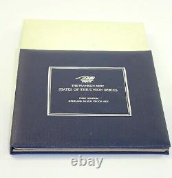 Franklin Mint State of the Union Series First Edition Sterling Silver Proof Set
