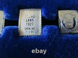 Franklin Mint Sterling Silver 100 Greatest Stamps of the World Complete Set