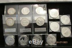 Franklin Mint Sterling Silver 14 pieces total weight 17.24 ounces NICE