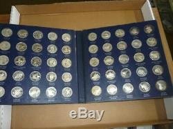 Franklin Mint Sterling Silver 50 State Union Series Set Proof 472n