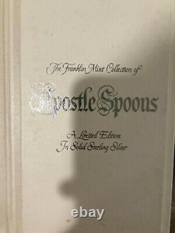 Franklin Mint Sterling Silver Apostle Spoons Collection 1973 MINT