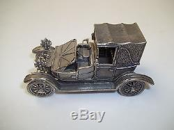 Franklin Mint Sterling Silver Car Model of 1908 Lancaster