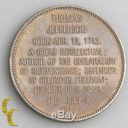 Franklin Mint Sterling Silver Commemorative President Medal Set 1968 with CoA