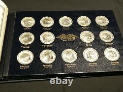 Franklin Mint Sterling Silver Declaration Founders Signers Medals 56-Oz Sterling