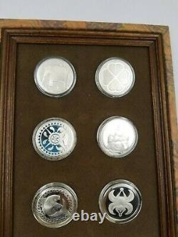 Franklin Mint Sterling Silver Good Luck Medals
