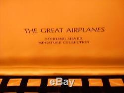 Franklin Mint Sterling Silver Greatest Airplanes -1978