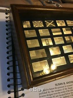 Franklin Mint Sterling Silver Historical Flags of America Set Ingots 42 pc
