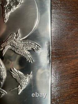 Franklin Mint Sterling Silver Lords of the Serengeti Wildlife Wall Sculptures