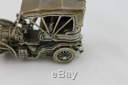 Franklin Mint Sterling Silver Miniature Car 1903 Fiat Damaged