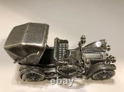 Franklin Mint Sterling Silver Miniature Car 1904 Mercedes Simplex 6.9 oz