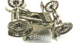 Franklin Mint Sterling Silver Miniature Car 1904 Oldsmobile 143