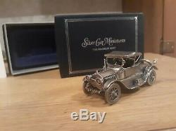 Franklin Mint Sterling Silver Miniature Car 1913 Cadillac Coupe