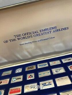 Franklin Mint Sterling Silver Official Emblems Worlds Greatest Airlines MISSES 1