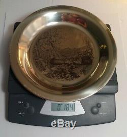 Franklin Mint Sterling Silver Plate Brandywine Battlefield James Wyeth COA 6.5oz