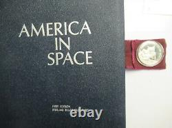 Franklin Mint Sterling Silver Proof Set, America in Space, 25 coins with narrative
