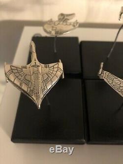 Franklin Mint Sterling Silver Star Trek Ships Lot of 12