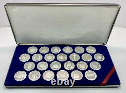 Franklin Mint Sterling Silver Treasure Coins of the Caribbean 25 LN/Box