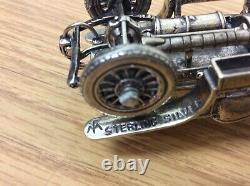 Franklin Mint Sterling Silver Vintage Miniature Cars Model Collection Set