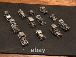 Franklin Mint Sterling Silver Vintage Miniature Cars Model Collection Set 1979