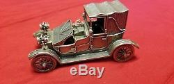 Franklin Mint Sterling Silver Vintage Miniature Silver Cars Model Collection Set