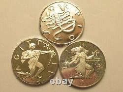 Franklin Mint Sterling Silver Zodiac Medals Set, 12 Medallions
